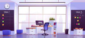 Panele akustyczne w biurze